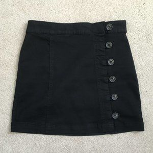 Forever 21 Small Black Button Up Skirt NWT